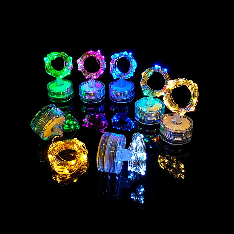 1M/2M/3M/5M LED Underwater Candle Submersible Copper Wire String Light 10/20/30/50LED Vase Bottle Fairy Light For Wedding Party
