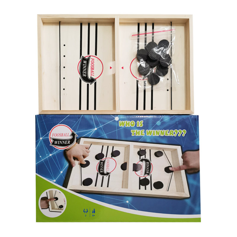 Foosball Games Super Winner Sling Puck Game Fun Toys Board-Game table desktop battle 2 in 1 ice hockey game Toys For Adult Child-4
