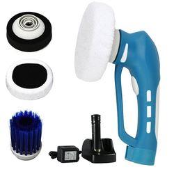 Polerowanie samochodów  Mini bezprzewodowe urządzenie do polerowania samochodu ręczne elektryczne urządzenie do oczyszczania samochodu wodoodporny zestaw narzędzi wtyczka amerykańska (niebieski) w Zestawy narzędzi ręcznych od Narzędzia na