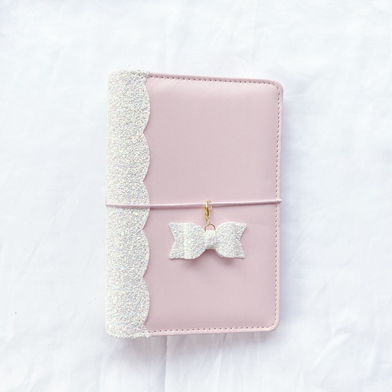 A6 Ring Binder Notebooks Macaron Handbook Set Sequins  Planner Journal Agenda Organizer Schedule Diy Personal Diary Book