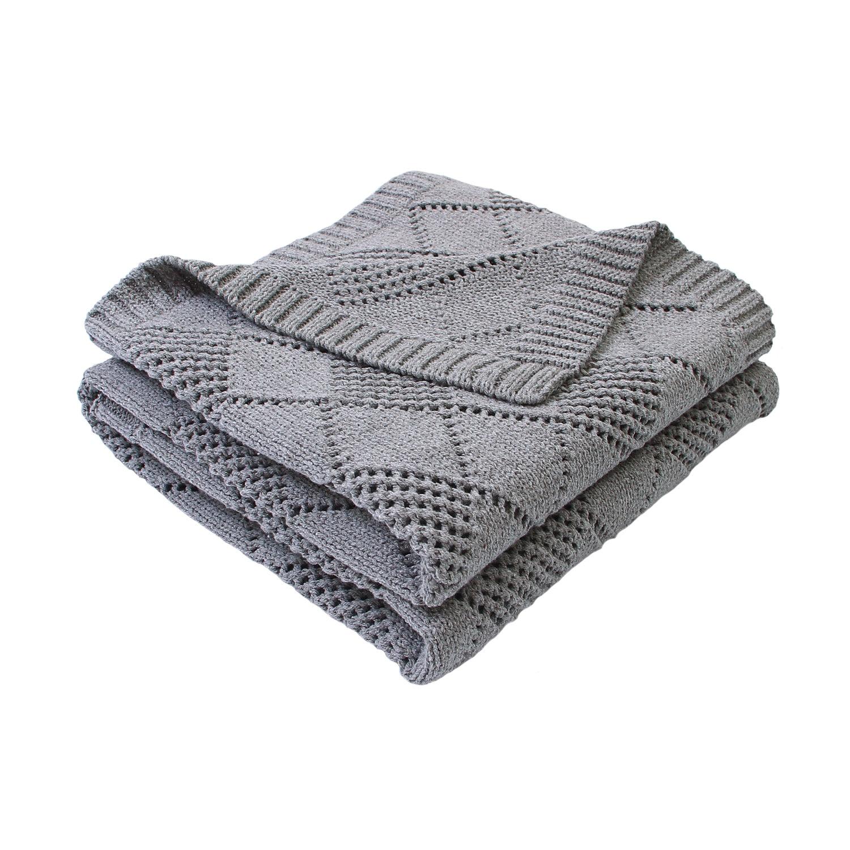 Baby Blankets Cotton Knitted Super Soft Newborns Swaddle Wrap Blanket Solid Infant Bebes Stroller Bed Quilts 100*80cm Bath Gauze
