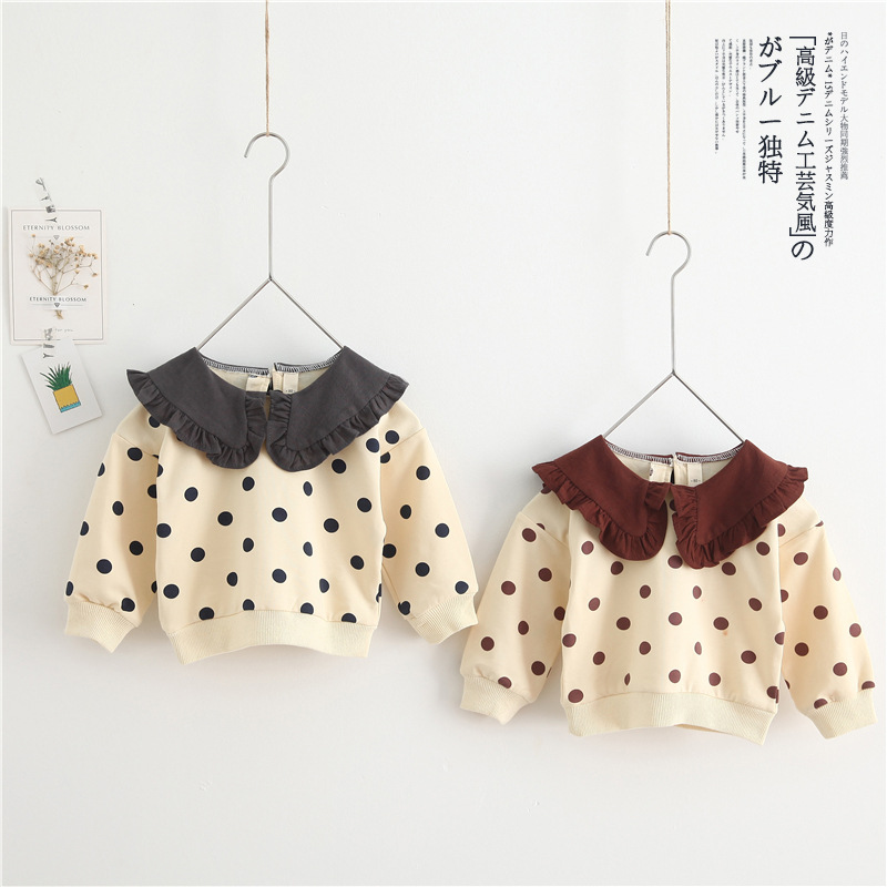 2019 new girls t-shirt autumn full sleeve cotton soft fashion kids sweatshirt 1-6t