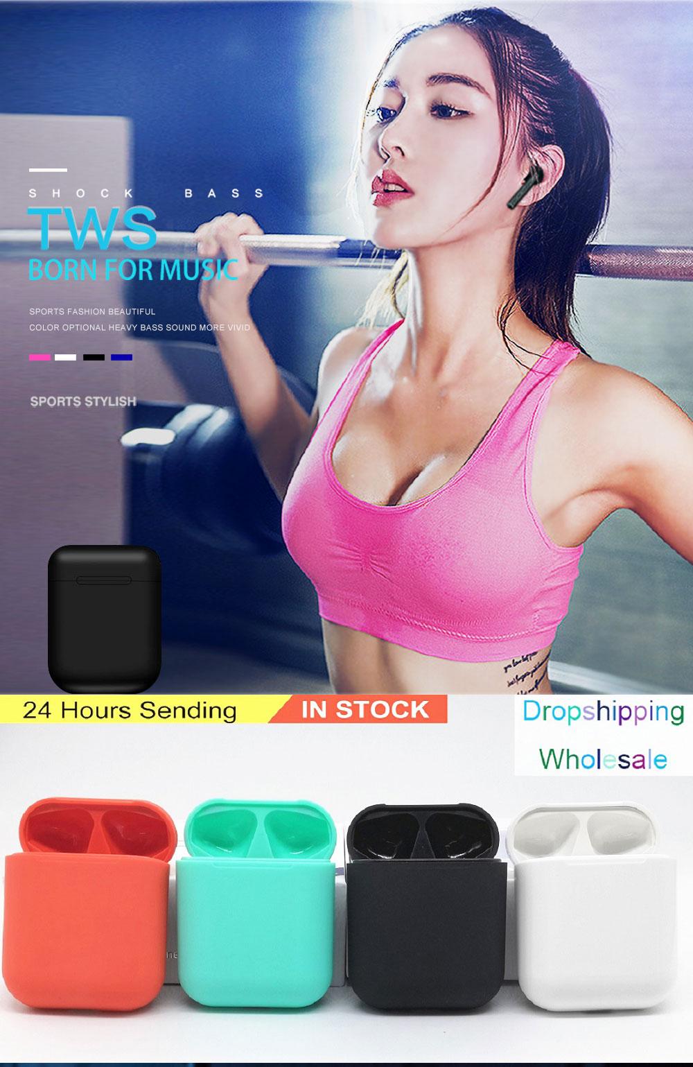 I12 tws Bluetooth наушники беспроводные наушники свободные руки бизнес наушники спортивная Гарнитура Bluetooth Музыка наушники