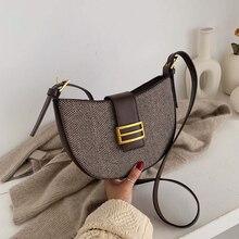 Fashion Stripe Woman Shoulder Bag PU Leather Square Versatile Hasp Soft Crossbody Luxury Handbags Women Bags Designer Sac Bolsa