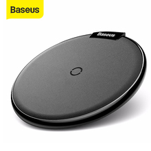Baseus עור אלחוטי מטען עבור iPhone 11 פרו Xs Max Xr X 8 בתוספת שולחן עבודה אלחוטי מטען Pad עבור סמסונג s10 S9 Xiaomi Mi 9מטענים אלחוטיים