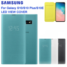 SAMSUNG Original LED Ansicht Abdeckung Smart Abdeckung Telefon Fall für Samsung Galaxy S10 SM G9730 S10X SM G9700 S10 E S10E S10Plus g9750