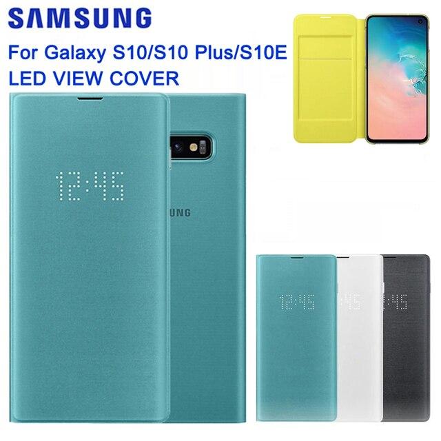 SAMSUNG Original LED View Cover Smart Cover Phone Case for Samsung Galaxy S10 SM G9730 S10X SM G9700 S10 E S10E S10Plus G9750