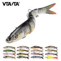 VTAVTA 14cm 23g Sinking Wobblers Fishing Lures Jointed Crankbait Swimbait 8 Segment Hard Artificial Bait For Fishing Tackle Lure