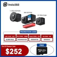 Insta360 una R Insta 360 4K 5,7 K Cámara de Acción doble edición/Edición de 360/1-pulgadas edición impermeable como Gopro