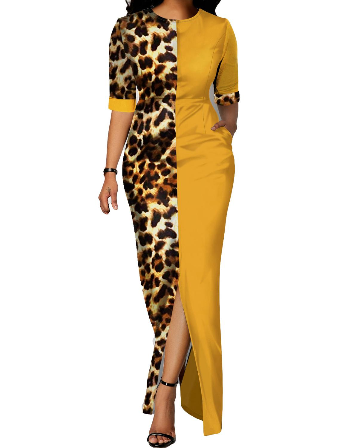 African Design Dashiki Dress Print Leopard Muslim Abaya Bazin Robe Gowns Africa Long Maxi Dresses Riche Lady Traditional Islamic