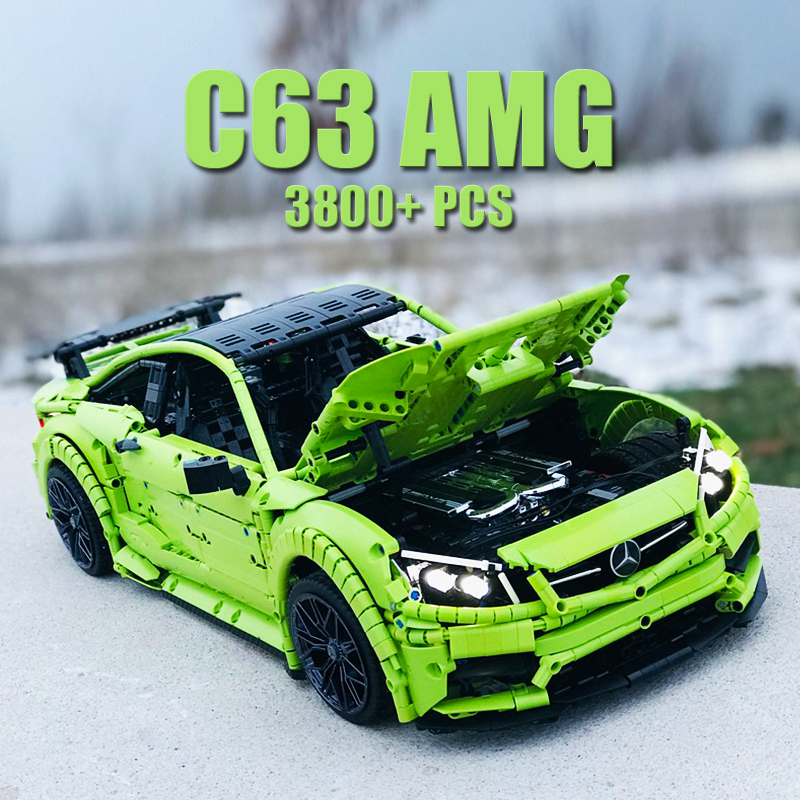 Building block set MOC Technic AMG C63 3800+ sports car assembled children's toy gift