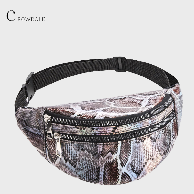 CROWDALE Waist Bag Belt Bag Women New Fashion Serpentine Chest Bag Ladies Travel Fanny Pack Designer Female Belt Purse For Women