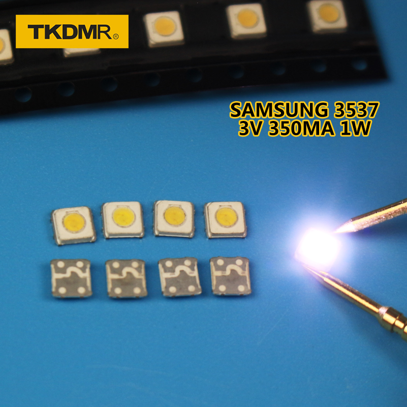 TKDMR Wholesale 120PCS Samsung LED TV Backlight SMD 1W 3535 3537 Cool White 3V 300ma For Samsung TV Repair