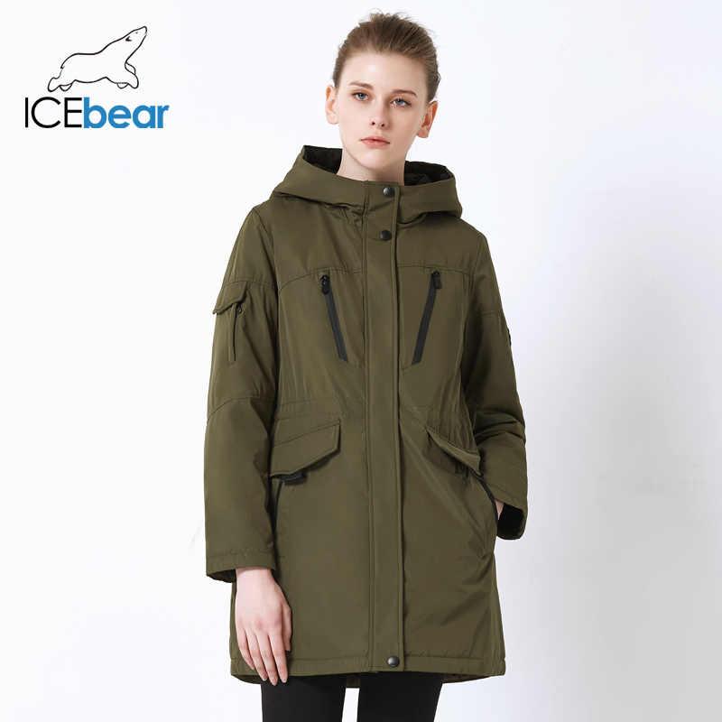 ICEbear 2019 새로운 가을 여성 자 켓 고품질 캐주얼 숙 녀 자 켓 슬림 후드 브랜드 자 켓 GWC18010I