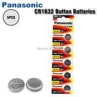5Pcs/lot PANASONIC CR1632 1632 DL1632 3V Lithium Batteries Cell Button Coin Battery