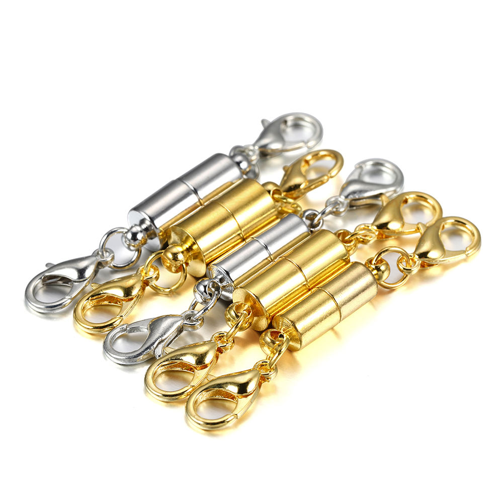 5 teile/los Karabinerverschluss Metall Kupfer Magnet Anschlüsse Für DIY Leder Armbänder Halskette Schmuck, Die Entdeckungen Liefert