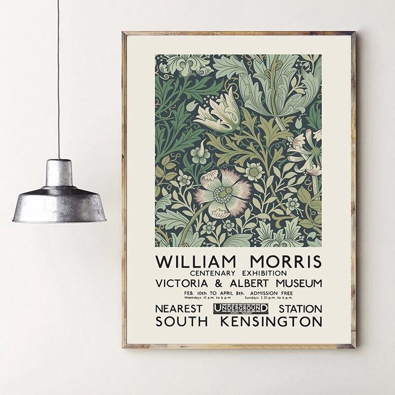 Affiche dexposition sur toile William Morris, londres, musée Victoria et Albert, peinture artistique, Nouveau décor mural
