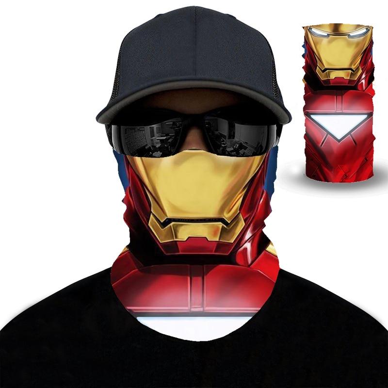2020 3D Iron Man Hiking Scarf Sport Headwear Men Women Bandanas Motorcycle Turban Hand Band Magic Scarves Outdoor Cycling Mask