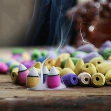 25/50/70/125 Pcs Incense Smoke Backflow Sandalwood Fragrant Aromatherapy Indian Tibetan Cones C