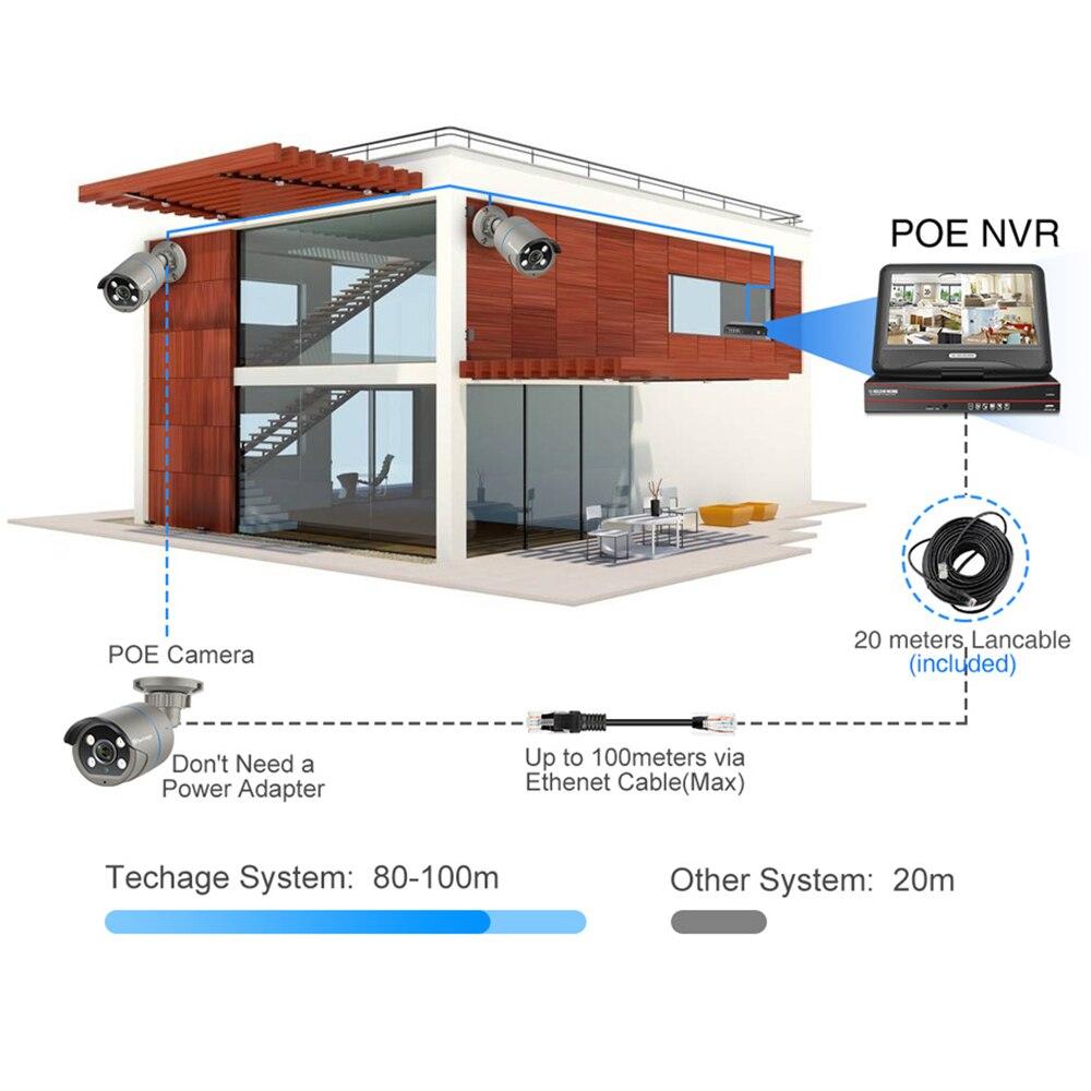 Techage 8CH 1080P HD Zwei Weg Audio POE IP Kamera 10