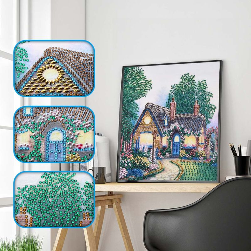 Dream House 5D DIY Diamond Painting by Number Kit Dril Beads Crystal Rhinestone Embroidery Cross Stitch Picture in Diamond Painting Cross Stitch from Home Garden