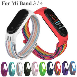 Bracelet Sport-Wristband-Straps Mi-Band Nylon 3-Strap Xiaomi Colorful Silicone for 4/3-strap/Colorful/Silicone