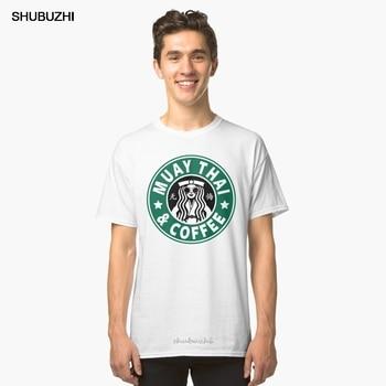 Camiseta de algodón de verano para hombre, Camiseta clásica MUAY THAI - MUAY THAI y COFFEE, camiseta de marca para hombre de talla grande europea
