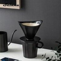 Seluna styl japoński 2 kubki ceramiczny kroplownik kawowy ręczny filtr do przelewowego zaparzania kawy V60 ekspres do kawy wlać ekspres do kawy filtr kroplowy w Filtry do kawy od Dom i ogród na