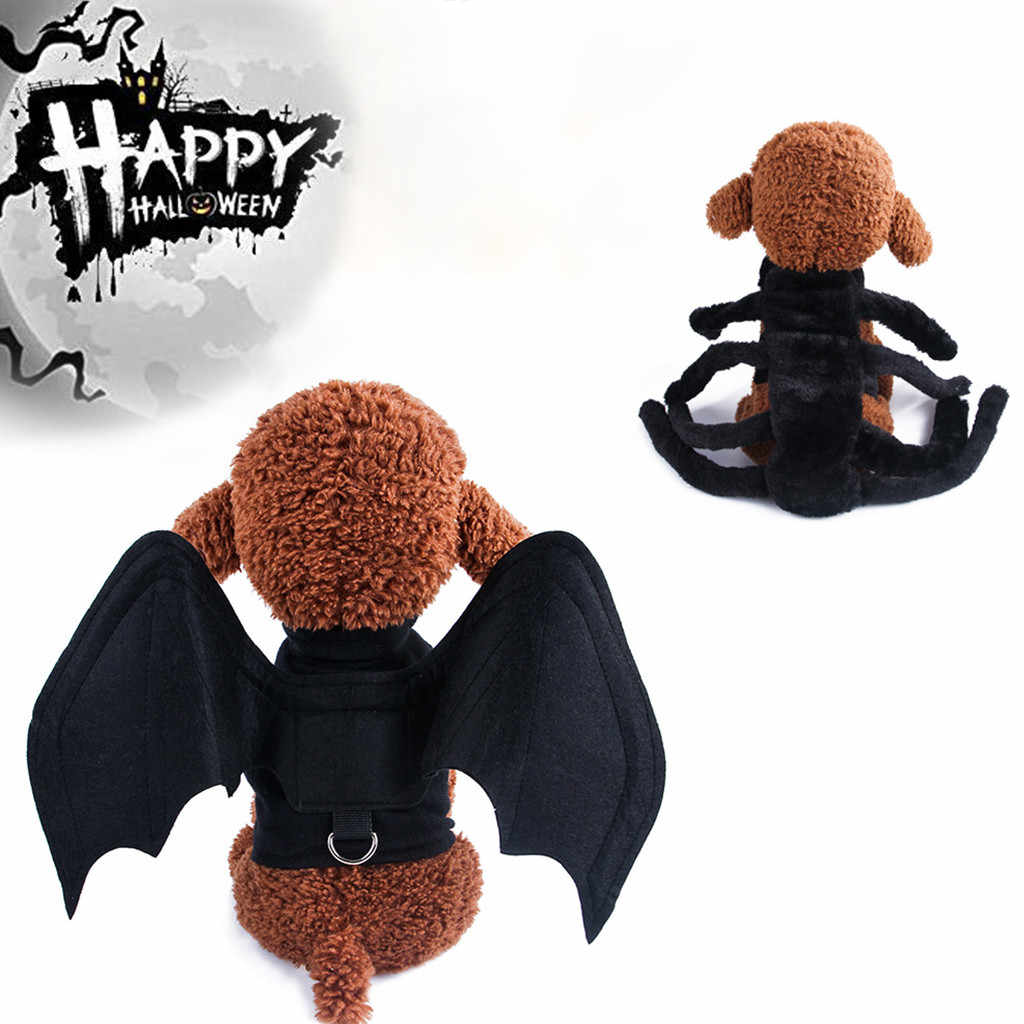 2019 Design Lovely Halloween Bat Transformed Dog Clothes Pet Fabric Vest Harnesses Chest Strap Bat Clothes for Small Dogs