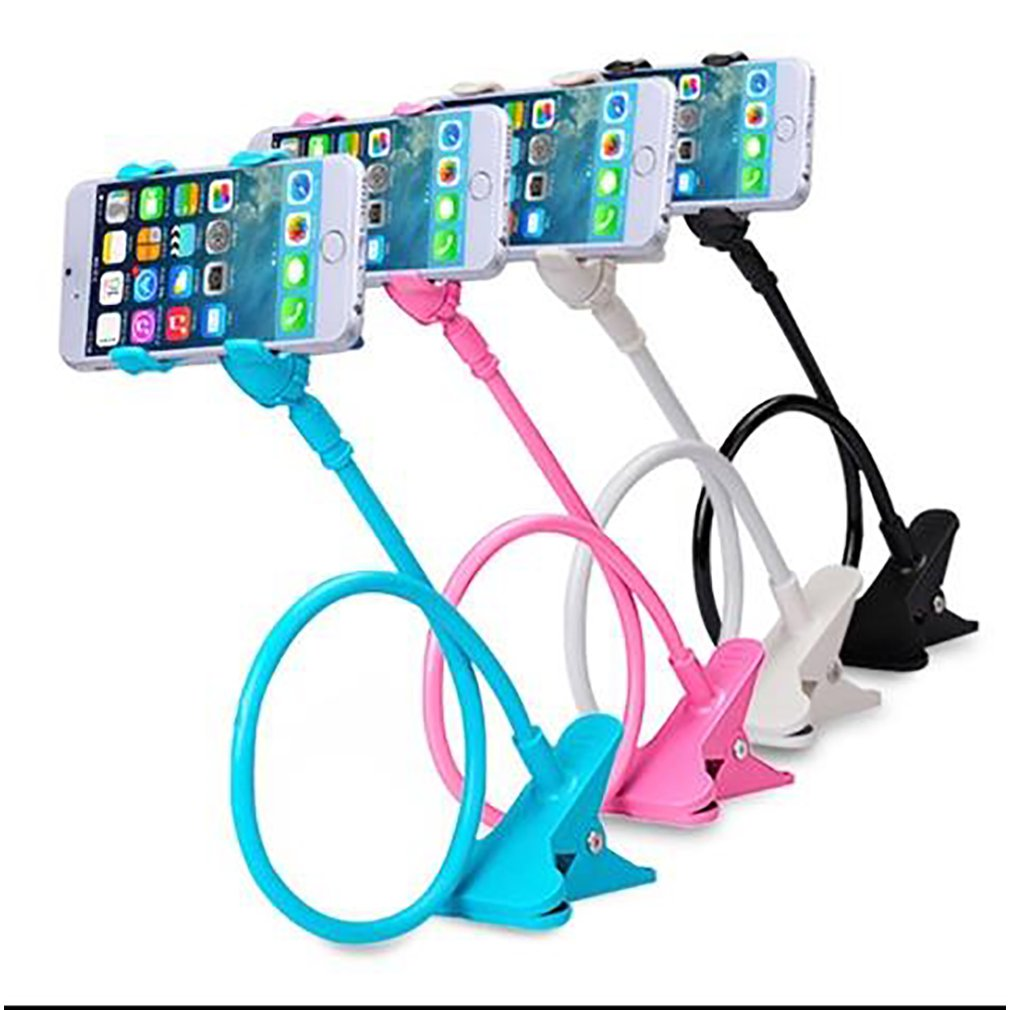Universal Bedside Lazy Double Chuck Mobile Phone Holder 360 Adjustableangle Strong Support Universal Hose Hands Free 1 Pcs