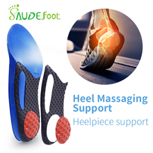 Saudefoot 3/4 length PU insole Flat Foot Orthotic insoles Arch Support Massaging Shoe Pad Cushion Insoles Foot Care Unisex men women foot care unisex orthotic insoles arch support shoe pad soft gel insole non slip insert shock absorbant cushion
