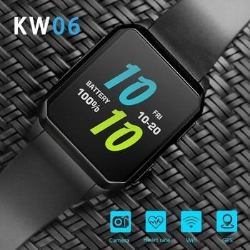 цена на Battiphee Smartwatch KW06 3G Smart Watch 8GB ROM IP68 Waterproof Camera Heart Rate Monitor SIM Card Watchphone WIFI Bluetooth