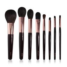 CT Brand 8Pcs Makeup Brushes Set High end Goat Squirrel Hair Soft Bronzer Powder Blush Eye Blender Smudger Eyeliner Lip Brush