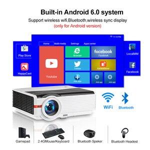 Image 2 - Caiwei A9/A9AB 스마트 LED 지원 1080p 프로젝터 홈 시네마 풀 HD 비디오 모바일 비머 안드로이드 와이파이 블루투스 hdmi VGA AV USB