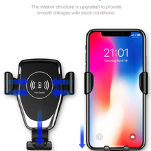 Automatic Infrared Sensor Car Phone Holder Qi Wireless Charg