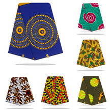 wholesale african fabric wax fabric print Holland High Quality wax cloth 100% cotton material 6yards african ankara for dress(China)