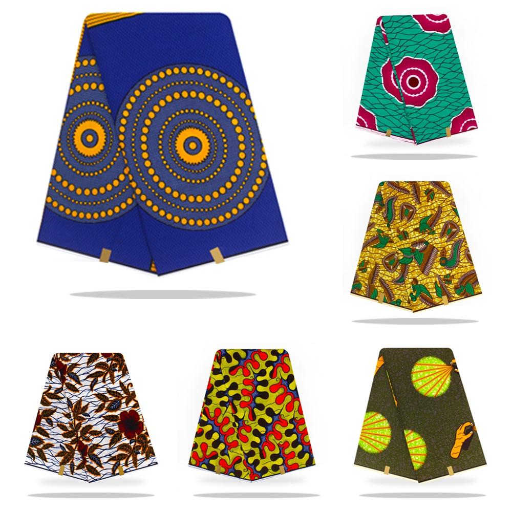 Wholesale African Fabric Wax Fabric Print Ankara High Quality Wax Cloth 100% Cotton Material 6yards African Ankara For Dress