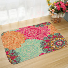 Living Room Bedroom Door Non-Slip Vacuum Floor Mat Mandala Printed Bathroom Door Kitchen Rug tapetes para casa sala(China)
