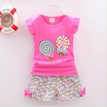 BibiCola Infant clothes summer baby girls clothing sets cartoon 2pcs t-shirt +floral shorts girls clothes sets kids tracksuit cheap Fashion O-Neck Pullover E52251 COTTON Sleeveless REGULAR Fits true to size take your normal size Vest Children pink red pink yellow white