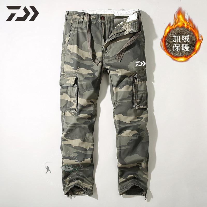 daiwa calcas de la calcas de pesca inverno pesca termica pant camuflagem caca caminhadas calcas casuais