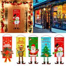 Adorno colgante para puerta de Feliz Navidad, decoración navideña para el hogar, regalo de Navidad, Navidad, Año Nuevo 2020, 2021