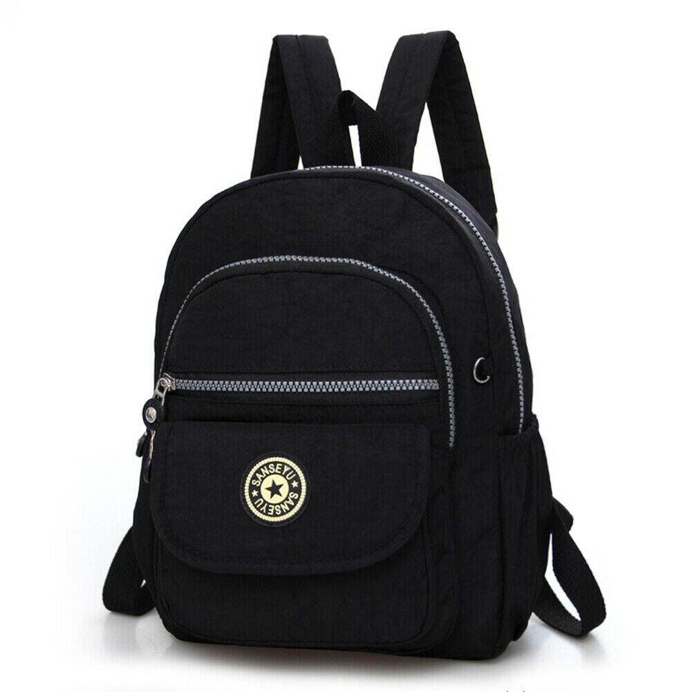 Повседневное женский рюкзак с защитой от краж с простой твердой колледж Стиль школьная сумка Мода Дорожная сумка для путешествий - Цвет: Черный
