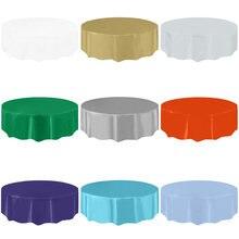 Toalha de mesa plástica redonda ambientalmente amigável do casamento da festa para o pano de tabela