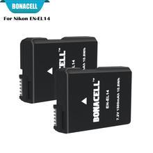 Bonacell 7,2 V 1500 мА/ч, Перезаряжаемые батареи для Nikon D3100 D3200 D3300 D5100 D5200 D5300 P7000 P7100 P7700 P7800 L50