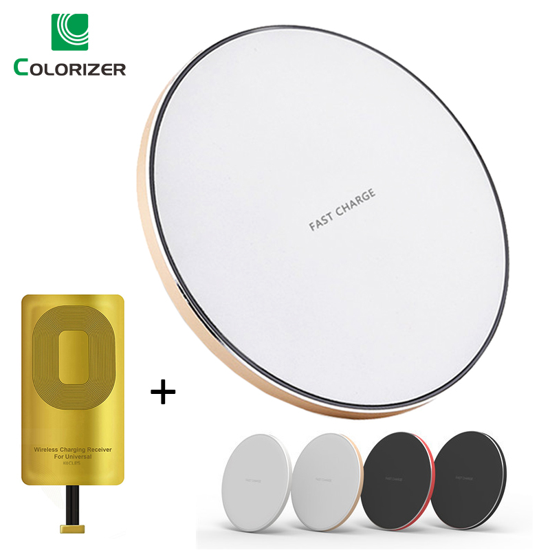 Universal 10W Fast Wireless Charger Pad For iPhone Samsung Huawei Xiaomi Qi Wireless Charging Receiver For Micro USB Smart Phone
