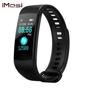 Image 3 - Bluetooth חכם צמיד צבע מסך Y5 C Smartband קצב לב צג לחץ דם מדידה כושר גשש חכם