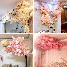 3-Pronged Cherry Branch Artificial Flower 100cm Artificial Flower False Plant tree Home Party Decoration DIY Wedding Decoration