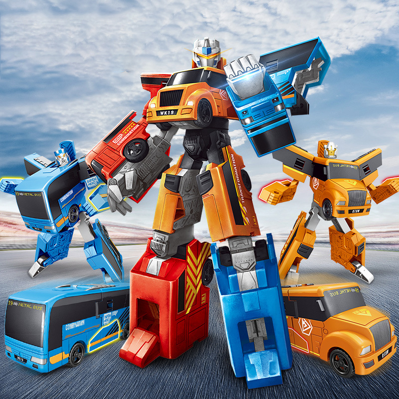 24 см 3 в 1 автобус трансформации автомобиль робот игрушки подарок на день рождения фигурку деформации игрушки обучающая игрушка для детей ...
