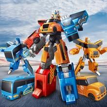 24 Cm 3 en 1 Bus Transformation voiture Robot jouets cadeau d'anniversaire figurine d'action déformation jouets éducation jouet pour enfants HC0182