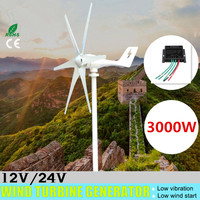 3000W 12V 24 Volt Wind Turbines+Controller 6 Blade Horizontal Home Wind Generator Powers Windmill Energy Turbines Charge